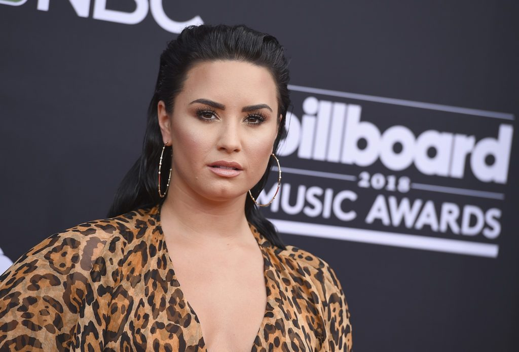 Demi Lovato Tigerprint Dress 1024x694 - Demi Lovato Net Worth, Pics, Wallpapers, Career and Biography