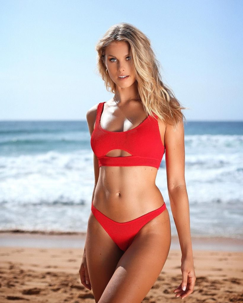 Natalie Jayne Roser Hot Red Bikini By The Sea 820x1024 - Natalie Jayne Roser Net Worth, Pics, Wallpapers, Career and Biograph