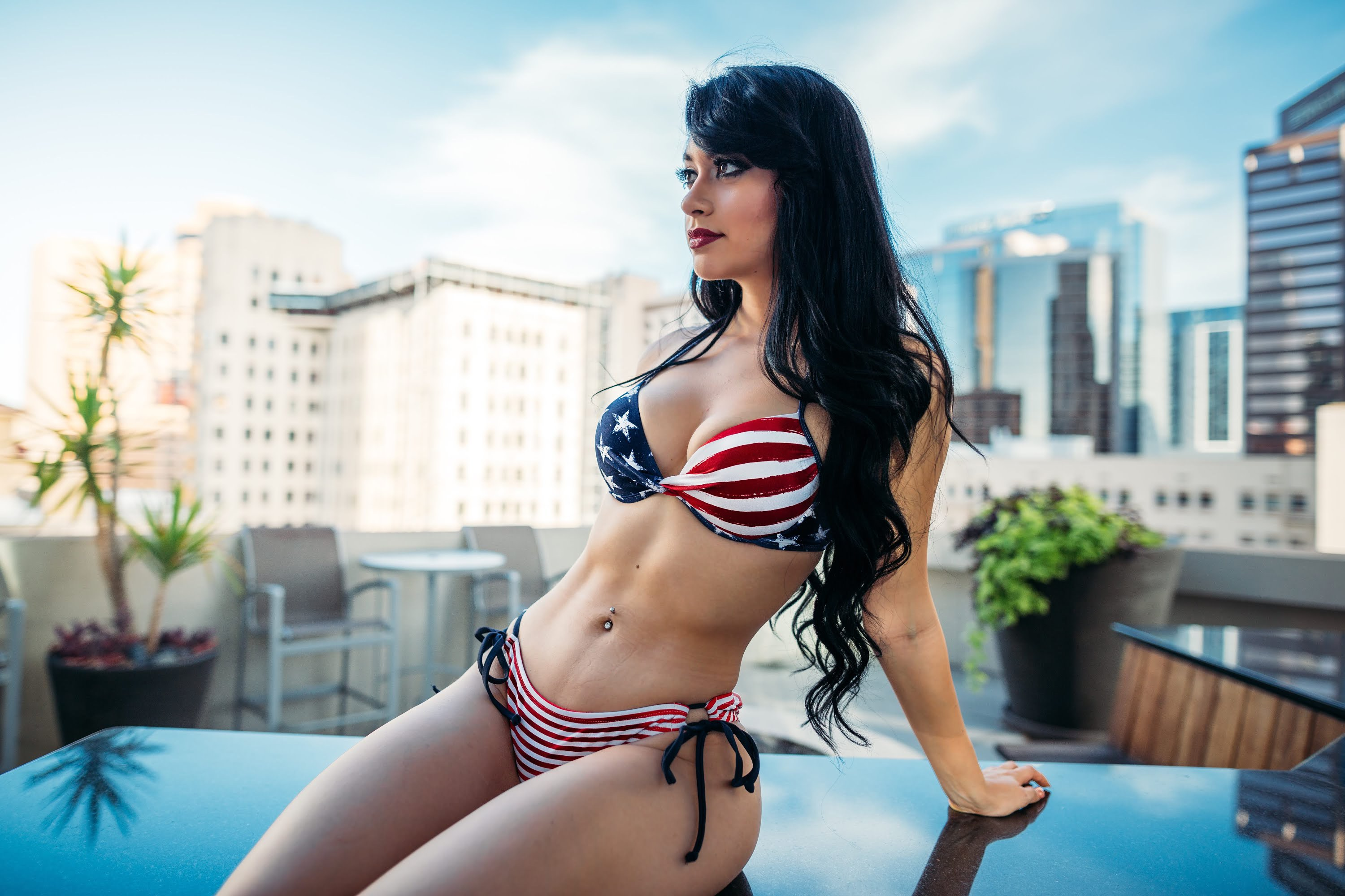 Jailyne Ojeda Ochoa Hot USA Flag Bikini - Jailyne Ojeda Ochoa Hot USA Flag Bikini