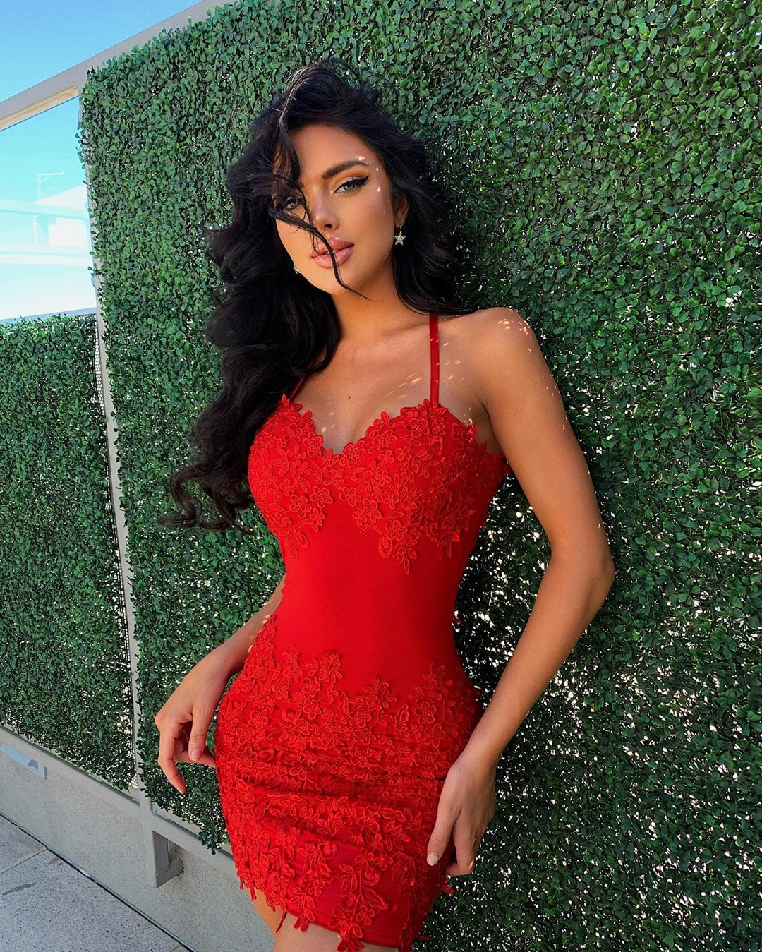 Kelsie Jean Smeby Hot Red Dress Outdoors Pics - Kelsie Jean Smeby Hot Red Dress Outdoors Pics