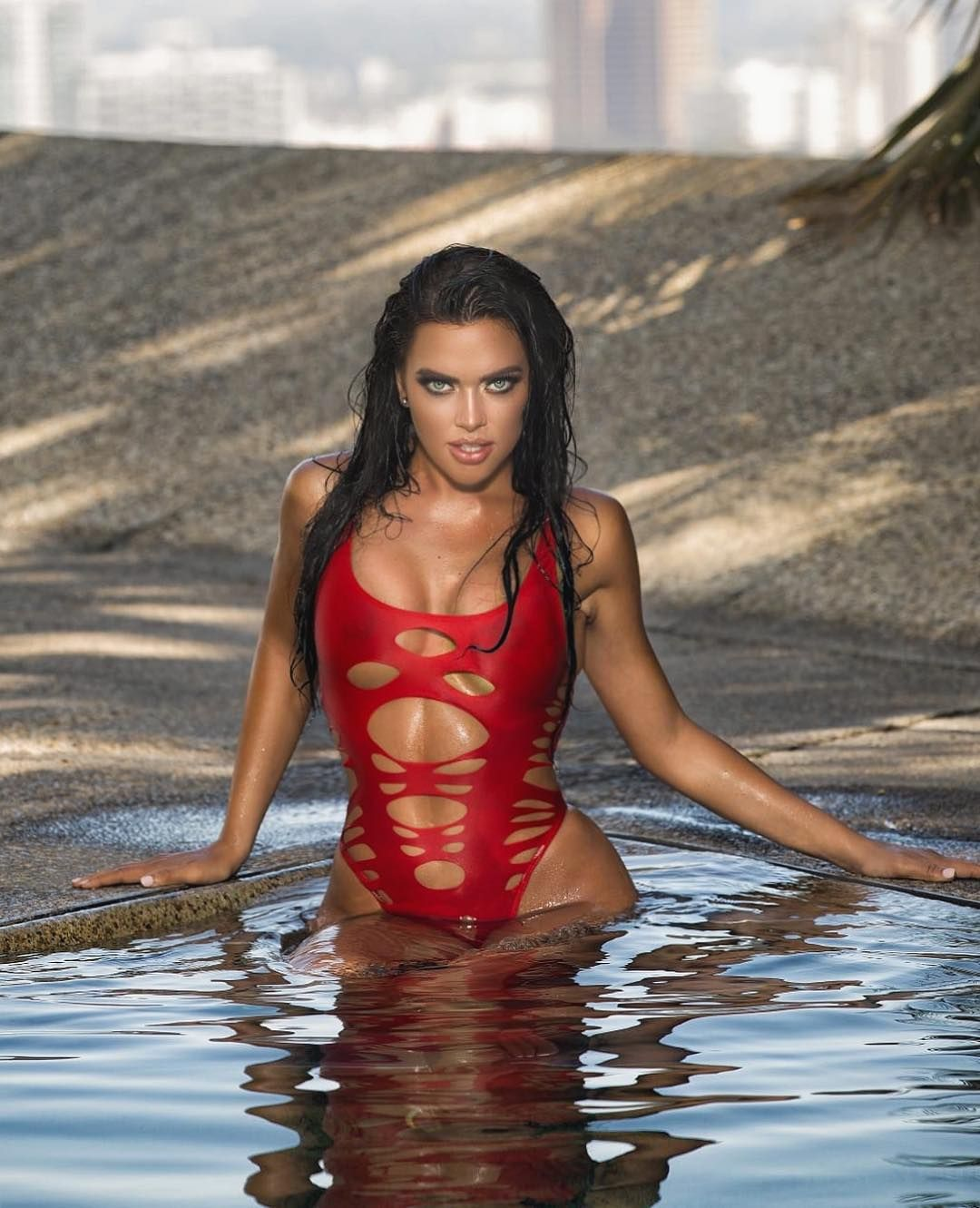 Kelsie Jean Smeby Hot Red Swimsuit Photoshoots - Kelsie Jean Smeby Hot Red Swimsuit Photoshoots