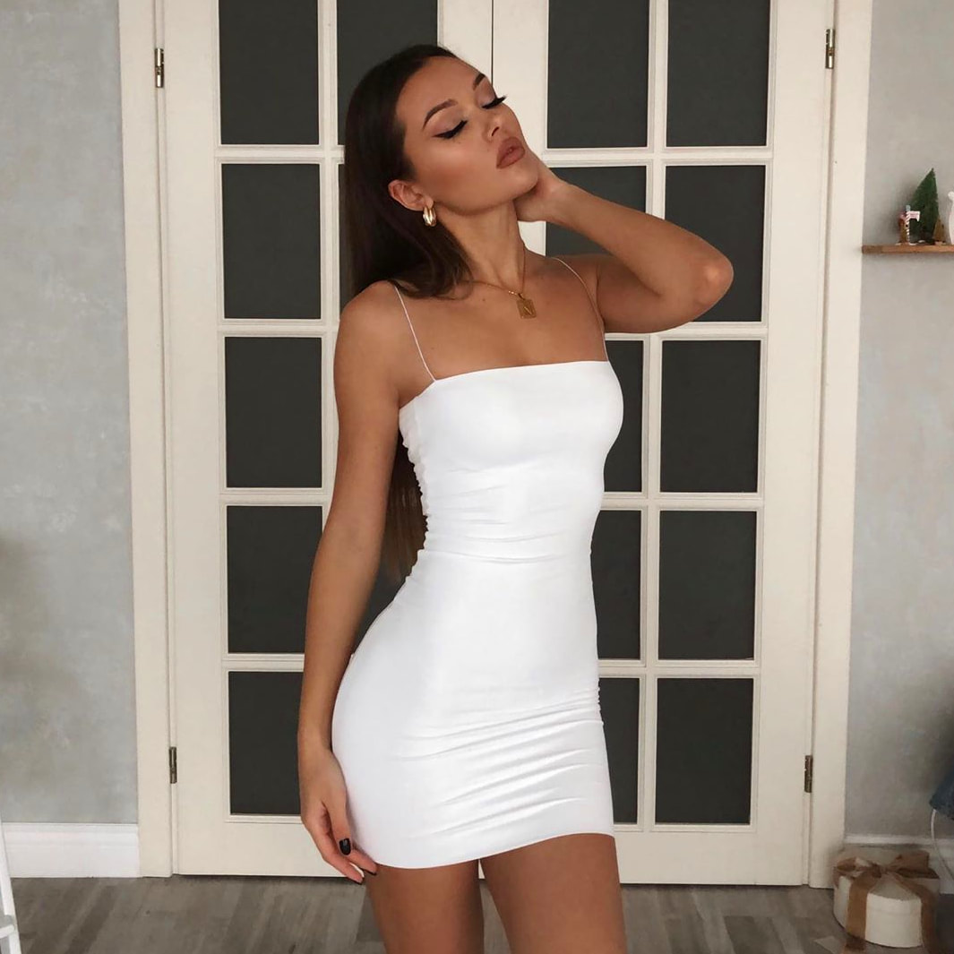Natalie Danish Hot White Mini Dress - Natalie Danish Hot White Mini Dress