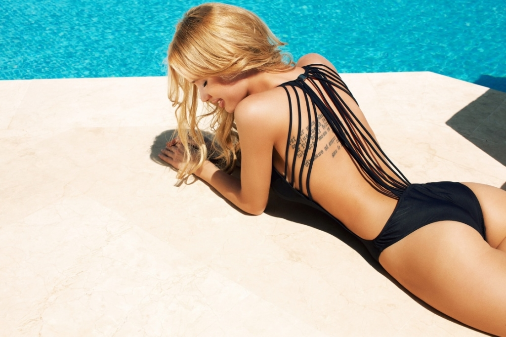 Olya Abramovich Hot Black Swimsuit Photoshoots - Olya Abramovich Hot Black Swimsuit Photoshoots
