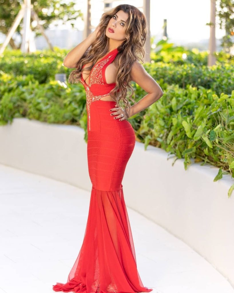 Vivi Castrillon Hot Decollete Red Dress 818x1024 - Vivi Castrillon Net Worth, Pics, Wallpapers, Career and Biography
