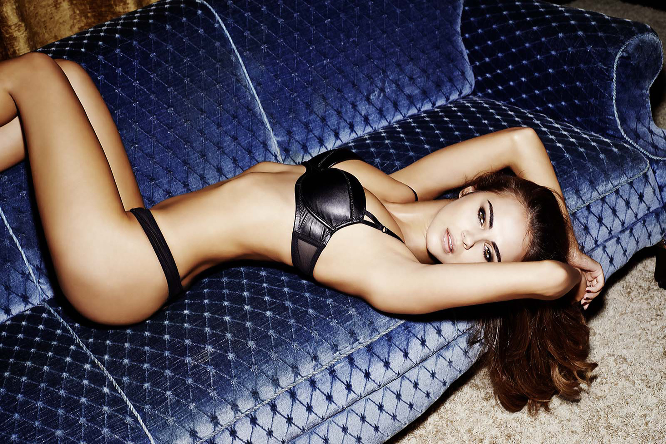 Xenia Deli Hot Bra Panty Couch Pose WP - Xenia Deli Hot Bra & Panty Couch Pose WP