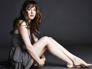 Dakota Johnson in a grey dress 300x225 - Alexandra Daddario Net Worth, Pics, Wallpapers, Career and Biography