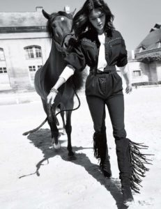 Kendall Jenner With Horse Modeling