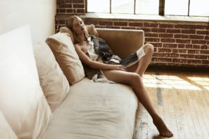 Rosie Huntington Whiteley Hot Couch Pose