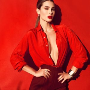 Silvia Caruso Red Revealing 300x300 - Jena Goldsack Net Worth, Pics, Wallpapers, Career and Biography