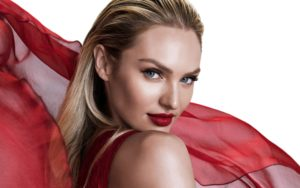 Candice Swanepoel Hot Red Lips