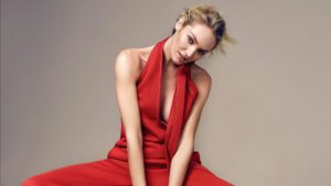 Candice Swanepoel Red Revealing Dress