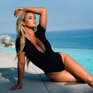 Kinsey Wolanski Hot Black Swimsuit By The Pool