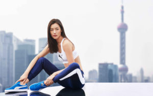 Lie Wen Sportsuit Modeling Outdoors scaled