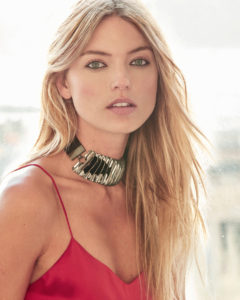 Martha Hunt Red Revealing Blouse scaled