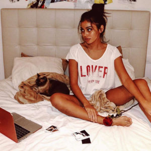 Cindy Kimberly Posing On The Bed