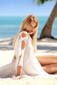 Lily Donaldson At The Beach