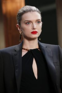 Lily Donaldson Hot Red Lips