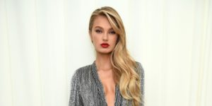 Romee Strijd Hot Red Lips Wallpaper scaled